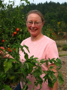 Elin with Tomatoes